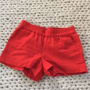 J.Crew shorts, red, 00